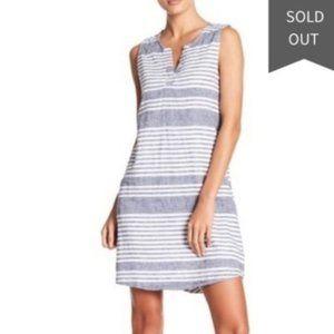 BeachLunchLounge White Jaylene Striped Linen Dress